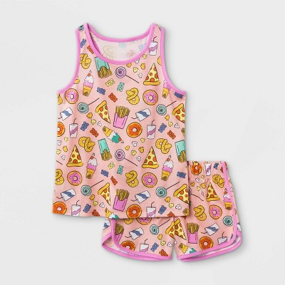 Girls' 2pc Junk Food Pajama Set - Cat & Jack™ Pink