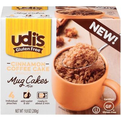 Udis Gluten Free Cinnamon Coffee Mug Cake - 4ct/9.8oz