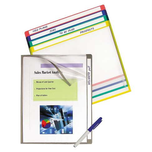 C-Line® Write-On Project Folders, Letter, Assorted Colors, 25/BX - image 1 of 1