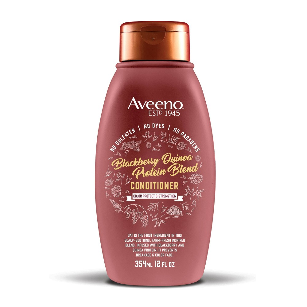 Image of Aveeno Blackberry Quinoa Protein Blend Conditioner - 12 fl oz