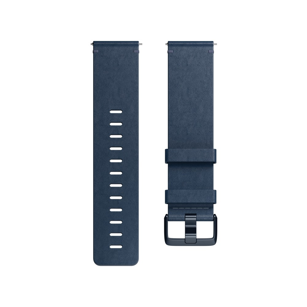 Fitbit Versa Fitness Tracker Band Large Leather - Midnight Blue