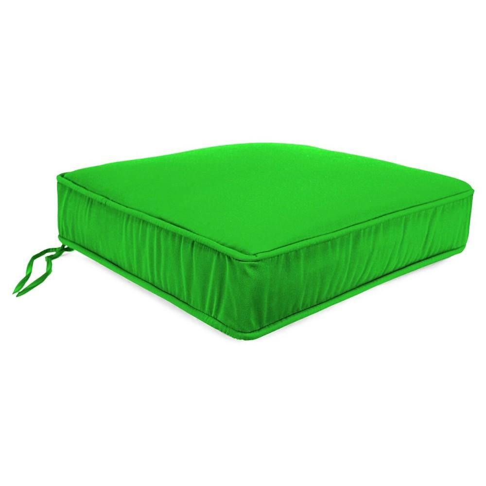 Jordan Boxed Edge Seat Cushion - Sunburst Leaf