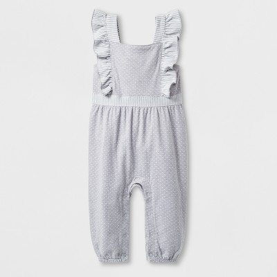 Baby Girls' Romper - Cat & Jack™ Gray 3-6M