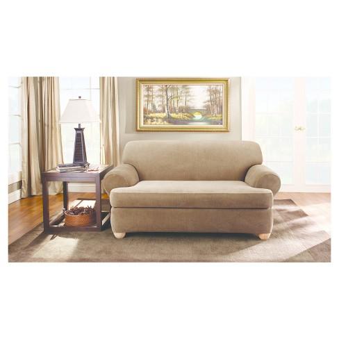 2pc Stretch Stripe T Cushion Sofa Slipcover 42 X40 X96 Sure Fit Target