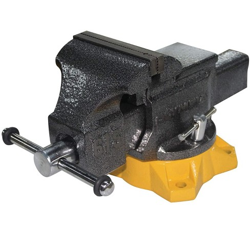 Olympia Tools 38 615 Powder Coated 5 Inch Mechanic Bench Vise with Yellow Base - image 1 of 4