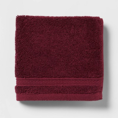 Soft Solid Washcloth Maroon - Opalhouse™