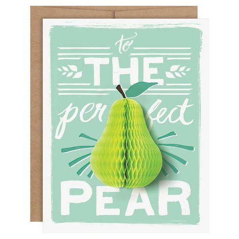"""The Perfect Pear"" Pop-up Card - image 1 of 4"
