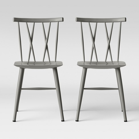 Set Of 2 Becket Metal X Back Dining Chair Project 62