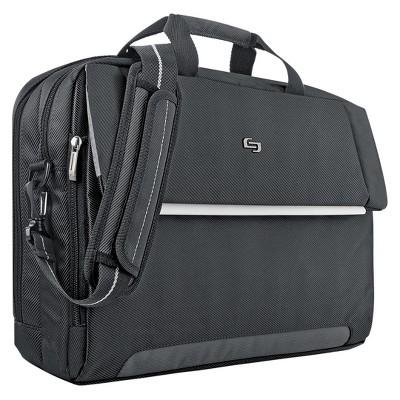 """Solo Chrysler 17.3"""" Briefcase - Black"""