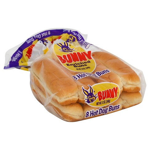Bunny Hot Dog Buns - 8CT - image 1 of 1