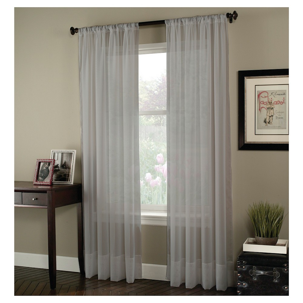 Curtainworks Soho Voile Curtain Panel, Silver