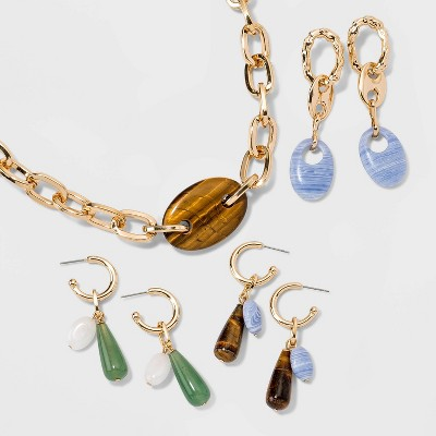Semi-Precious Charms and Chain Collection- A New Day™