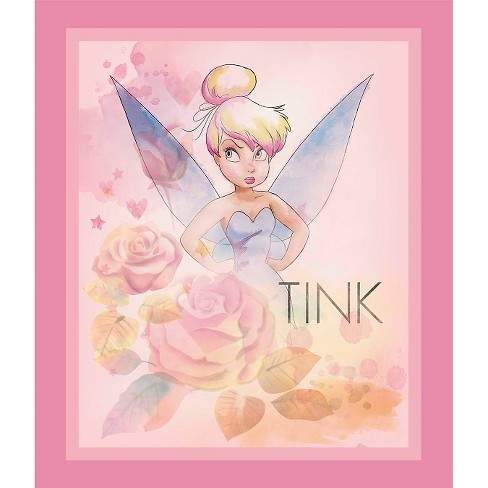 "Disney Tink All The Stars In The Sky Panel, Lavender, 100% Cotton, 43/44"" Width, Fabric by the Yard - image 1 of 1"