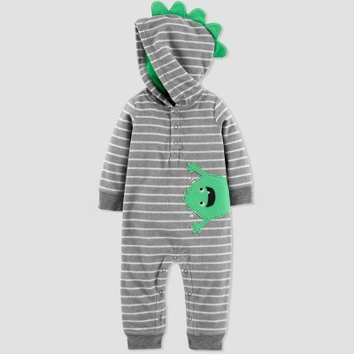 Baby Boys' 1pc Monster Jumpsuit - Just One You® made by carter's Gray 9M