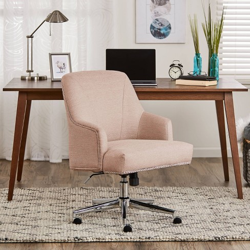 Style Leighton Home Office Chair Party Blush Pink Serta Target