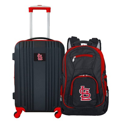 MLB St Louis Cardinals 2 Pc Carry On Luggage Set