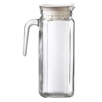 Amici Home Italian Igloo Quadra Glass Pitcher, 34oz