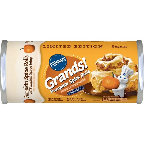 Pillsbury Grands! Pumpkin Spice Cinnamon Rolls - 17.5oz/5ct - image 1 of 3