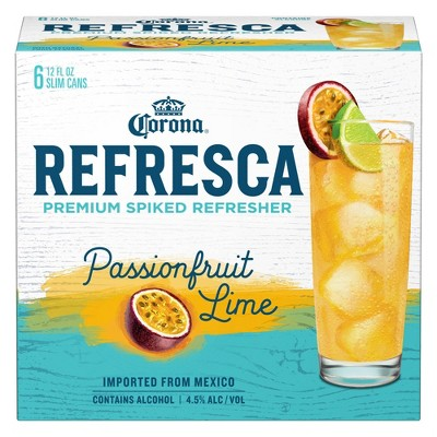 Corona Refresca Passionfruit Lime Refresher 6pk 12 Fl Oz Slim Cans Target