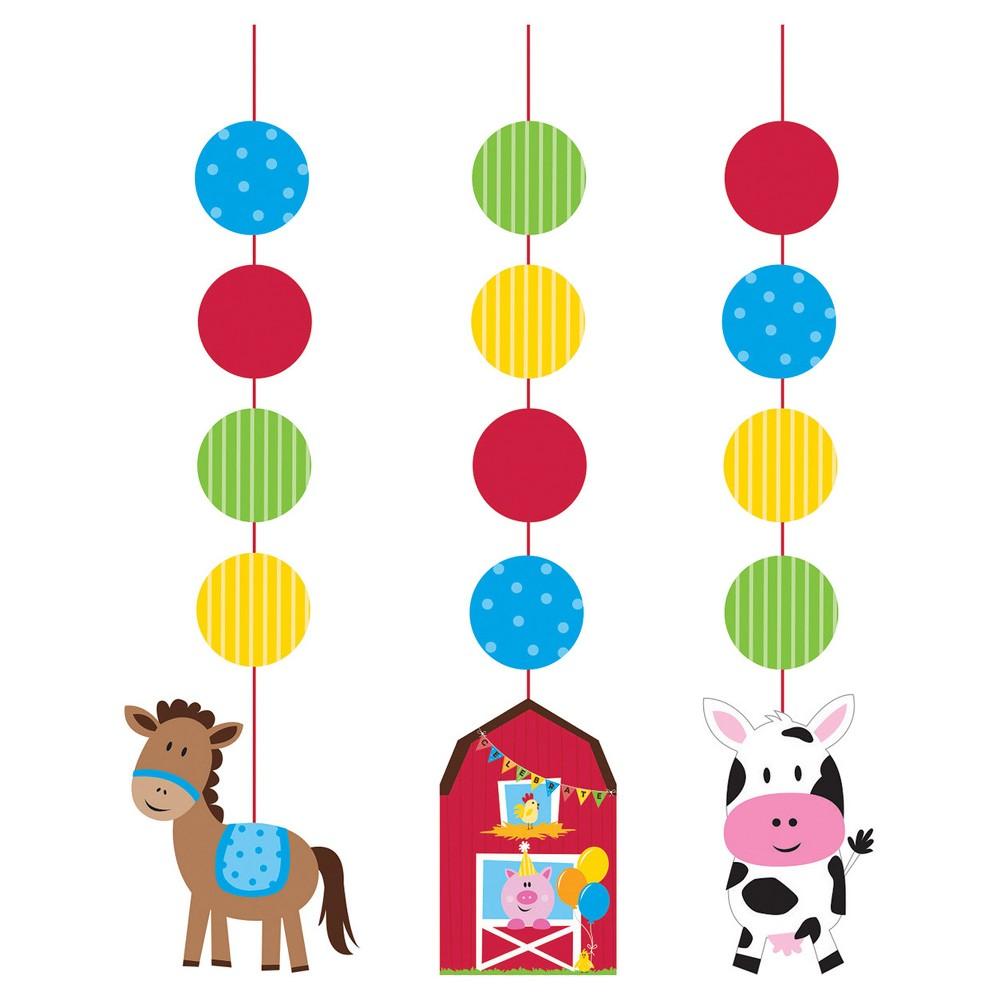 3ct Farm Fun Hanging Cutouts