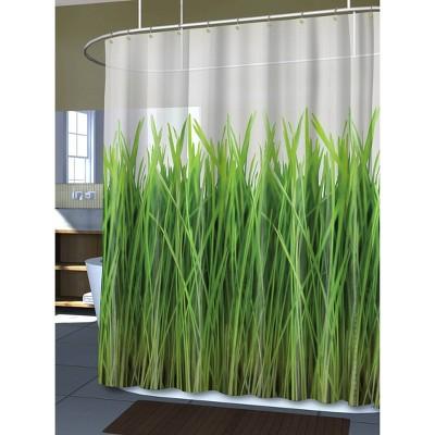 Grass EVA Shower Curtain - Green