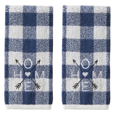 2pc Direction Home Hand Towel Set Blue - SKL Home