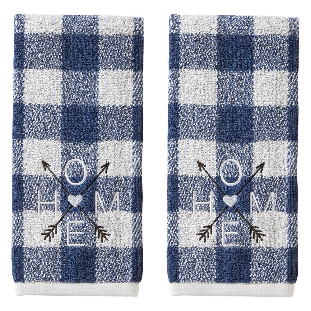 2pc Direction Home Hand Towel Set Blue Skl Home