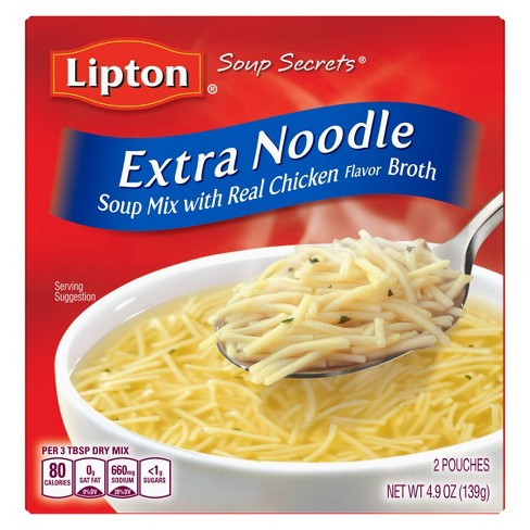Lipton® Soup Secrets® Soup Mix with Chicken Broth Extra Noodle 4.9oz - image 1 of 8