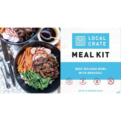 Local Crate Beef Bulgogi Bowl with Broccoli Meal Kit - Serves 2 - 27oz
