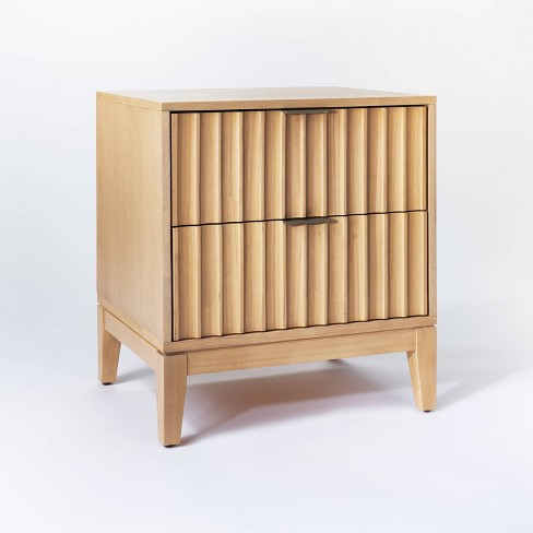 Thousand Oaks Wood Scalloped End Table With Drawers Threshold Designed With Studio Mcgee Target