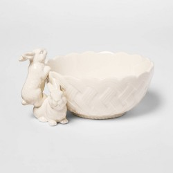15.2oz Stoneware Bunny Candy Dish White - Threshold™