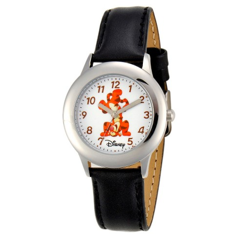 Boys' Disney Tiger Stainless Steel Watch - Black - image 1 of 2