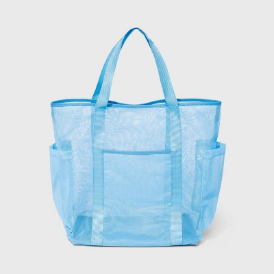 Mesh Tote Handbag - Shade & Shore™ Blue