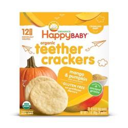 Happy Baby Teether Crackers Mango & Pumpkin - 12ct