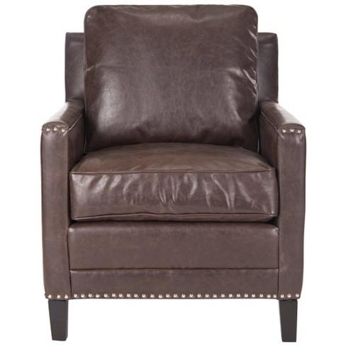 Suri Arm Chair - Espresso - Safavieh - image 1 of 4