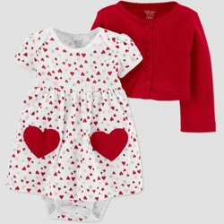 Baby Girls' 2pc Dress-Cardi Set - Just One You® made by carter's White