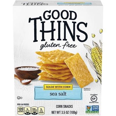 Good Thins Sea Salt Corn Snacks Gluten Free Crackers - 3.5oz