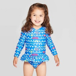 Toddler Girls' One Piece Swimsuit - Cat & Jack™ Blue