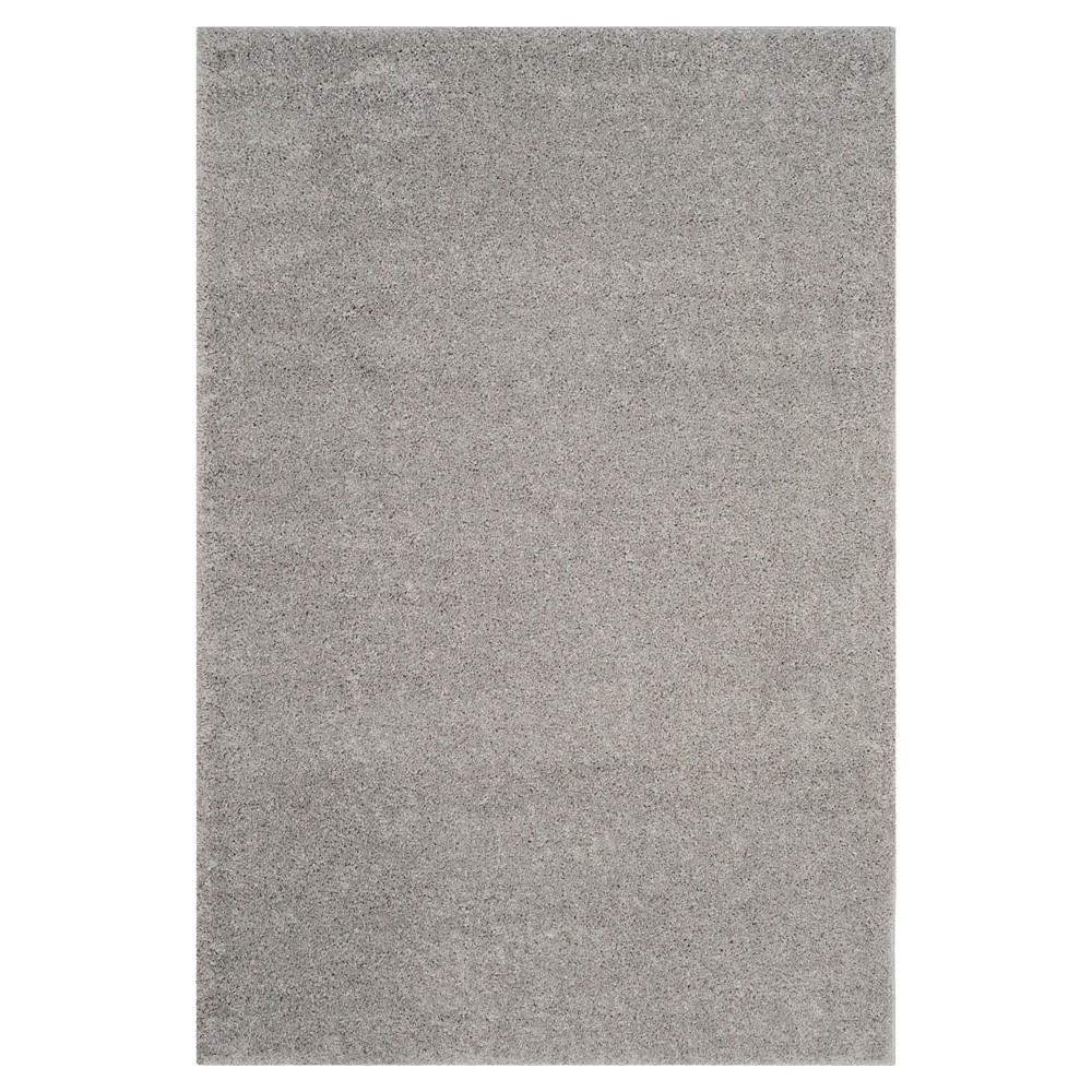 Light Gray Solid Loomed Area Rug - (5'1