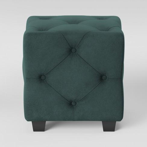 Astounding Lark Tufted Ottoman Velvet Teal Opalhouse Uwap Interior Chair Design Uwaporg