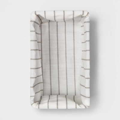 'Small Lined Milk Crate Dark Brown Weave 6''x6'' - Threshold'