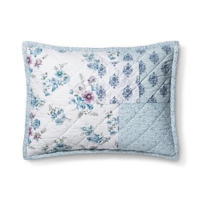 Blue Dascha Patchwork Pillow Sham (Standard)- Simply Shabby Chic®