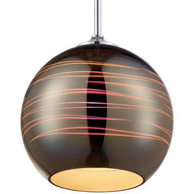 "18"" Spacey Globe Mini Pendant Polished Chrome 3D Iridescent Optic Space Glass - Varaluz"