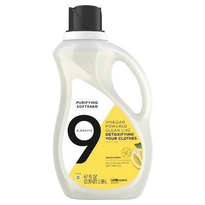9 Elements Lemon Scent Liquid Purifying Softener - 67 fl oz