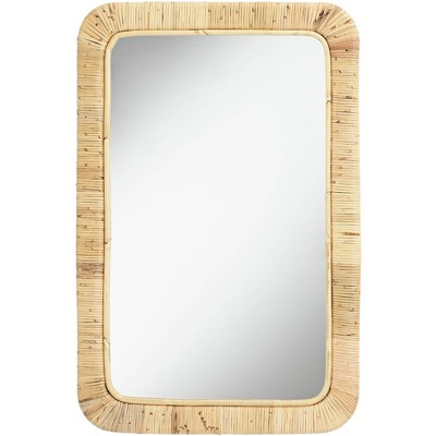 """Noble Park Westby 24"""" x 36"""" Rattan Wrapped Wall Mirror"""