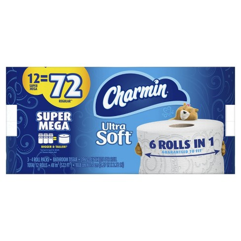 Charmin Ultra Soft Toilet Paper - 12 Super Mega Rolls - image 1 of 4