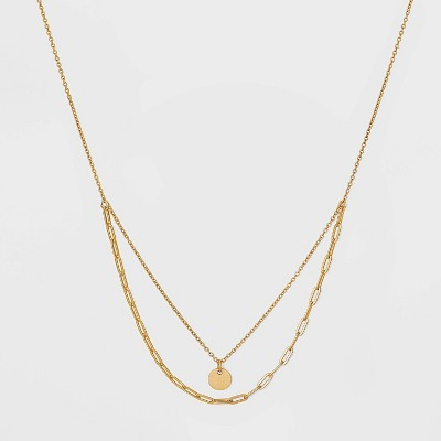 Sterling Silver Layered Chain Necklace - Universal Thread™