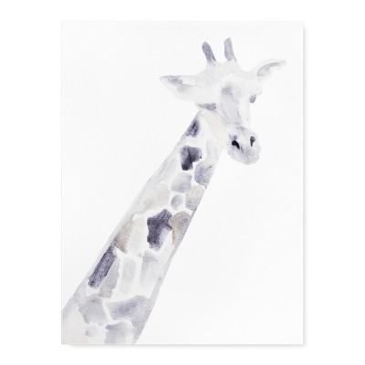 Cloud Island™ Wall Canvas Giraffe (18 x24 )- Neutral Gray