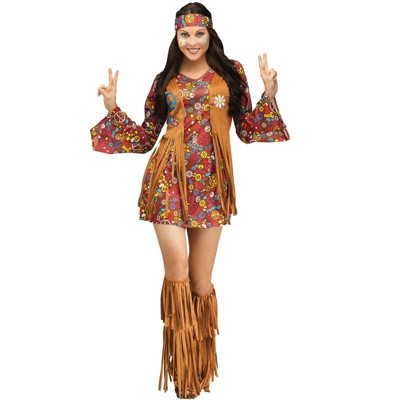 Fun World Peace and Love Hippie Adult Costume