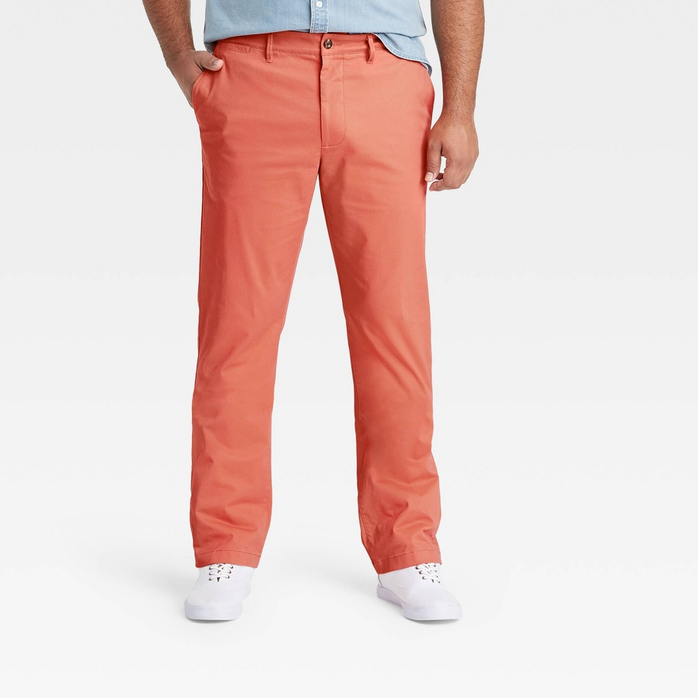 Men 39 S Tall Slim Fit Hennepin Chino Pants Goodfellow 38 Co 8482 Coral 36x36